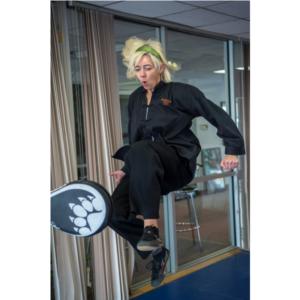 Aerial KF Kick Woman